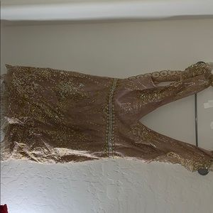 Champagne Gold homecoming/party dress